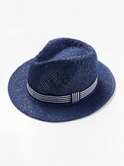 Panama straw hat Blue