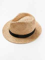 Panama straw hat Beige