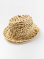Soft straw hat Beige