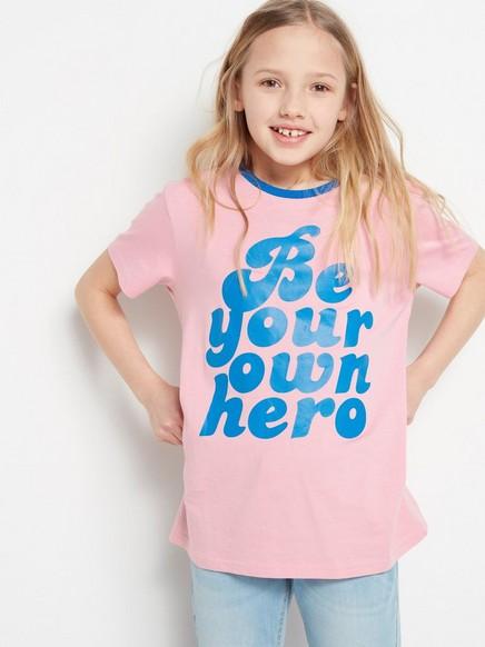 T-skjorte med teksttrykk Rosa