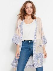 Blommig kimono Rosa