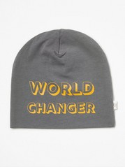Jersey Cap with Text Print Grey