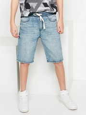 Loose Jeans Shorts Blue