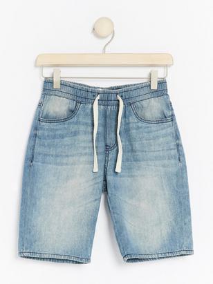 Loose jeansshorts Blå