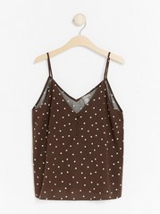 Brown Polka Dot Camisole  Brown