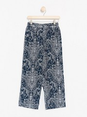 BELLA Relaxed Trousers  Blue