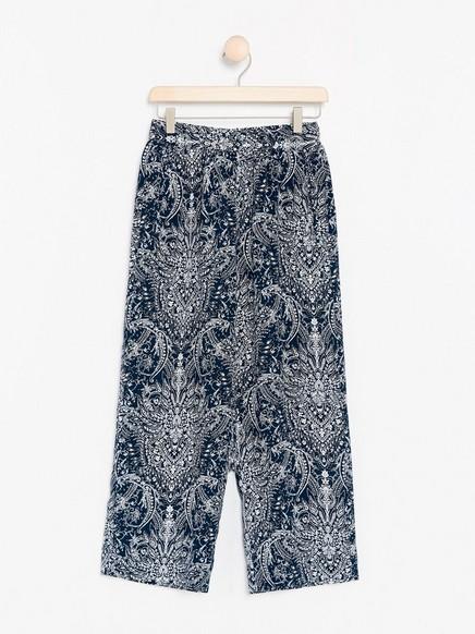 BELLA Relaxed bukse Blå
