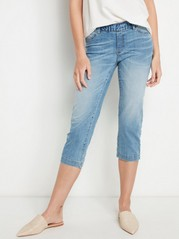 Capri Jeans with Elastic Waist  Blue