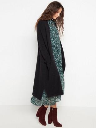 ee60ffcb14d Cardigan in alpaca blend Black