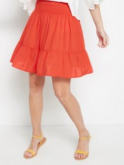 Short skirt with flounce  Red