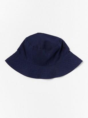 Sun Hat in Linen Blend Blue