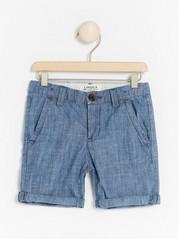 Regular chambray shorts Blue