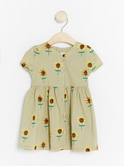 Dress with Sunflowers Green