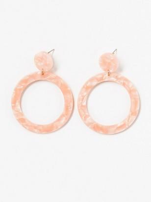 Kruhové náušnice Růžová