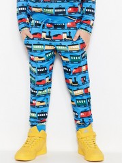 Sweatpants with Trains Blue