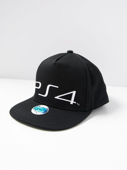Kaps med PlayStation-broderi Svart
