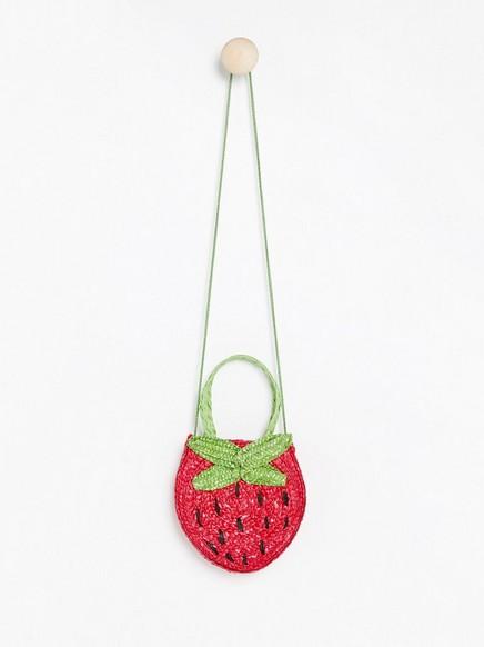 Jordbærstråveske Rosa