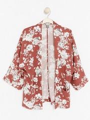 Květované kimono zviskózy Červená