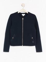 Žebrovaný modrý kabátek Modrá