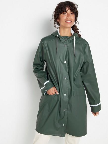 Hooded rain coat  Green