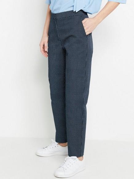 Vzorované rovné kalhoty IRIS Modrá