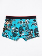 Floral Boxer Shorts Turquoise
