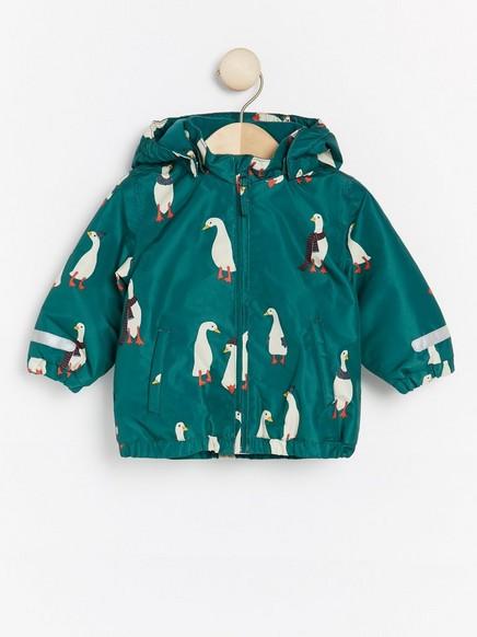 Grønn jakke med ender Grønn