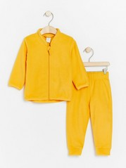 Fleece set with jacket and trousers Yellow
