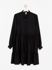 Šaty sdlouhým rukávem Černá