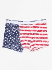 Boxer Shorts with Flag Red