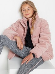 Pink corduroy puffer jacket  Pink