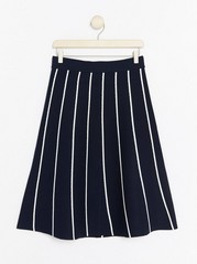 Striped Knitted Skirt  Blue