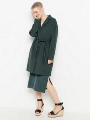 Coat with tie belt  Green
