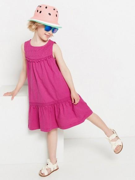 Ermeløs kjole Rosa