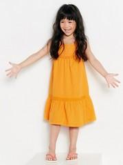 Šaty bez rukávů Oranžová
