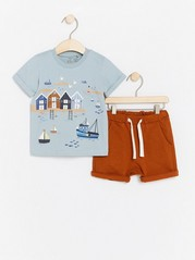 Set with T-shirt and Shorts Blue
