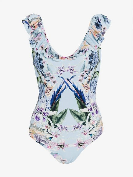 halpa hyvä monia muodikkaita Sininen Kukkakuvioitu uimapuku Lindex x By Malina | Lindex