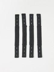 Ekstra elastisk strikk under foten, 4-stk. Svart