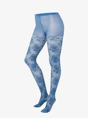 Mattapintaiset kuvioidut sukkahousut, 40 denieriä Sininen
