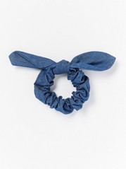 Scrunchie with Bow  Blue