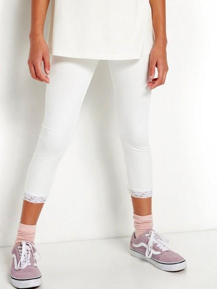 Trekvartlange leggings Hvit