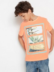 T-shirt with Photo Print Coral