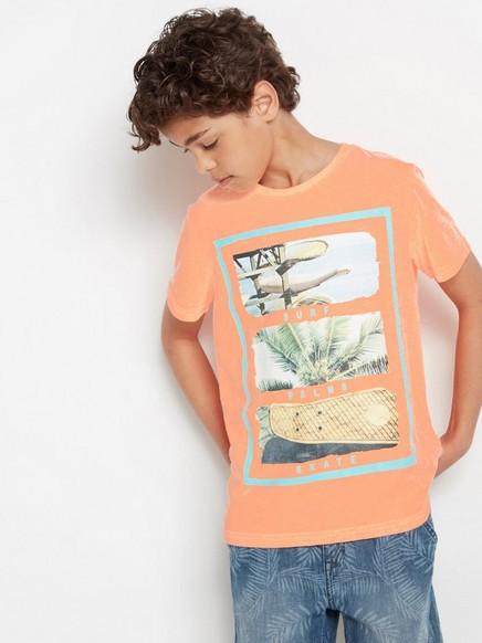T-skjorte med fototrykk Korall