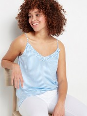 Viscose Camisole with Frills  Blue