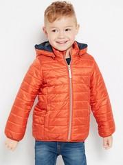 Lehká zateplená bunda Oranžová