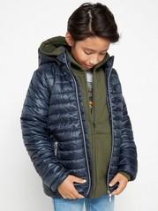 Light padded jacket with hood  Blue