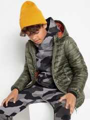 Light padded jacket with hood  Green