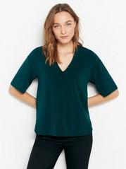 Short sleeve v-neck top  Green