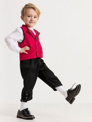 Folklore Costume with Waistcoat and Trousers Black