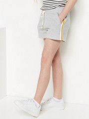 Shorts with Side Stripes Grey